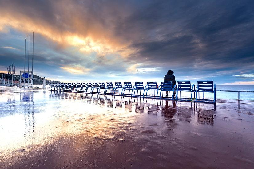 Sunrise sur la promenade des Anglais