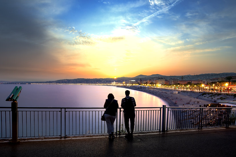 Couple sunset Nice