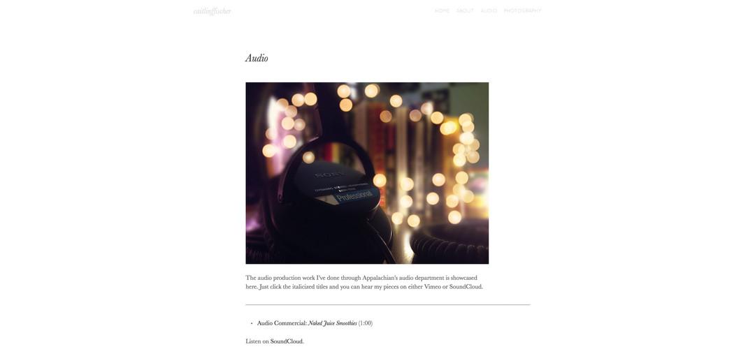 Caitlin Fischer Personal Website