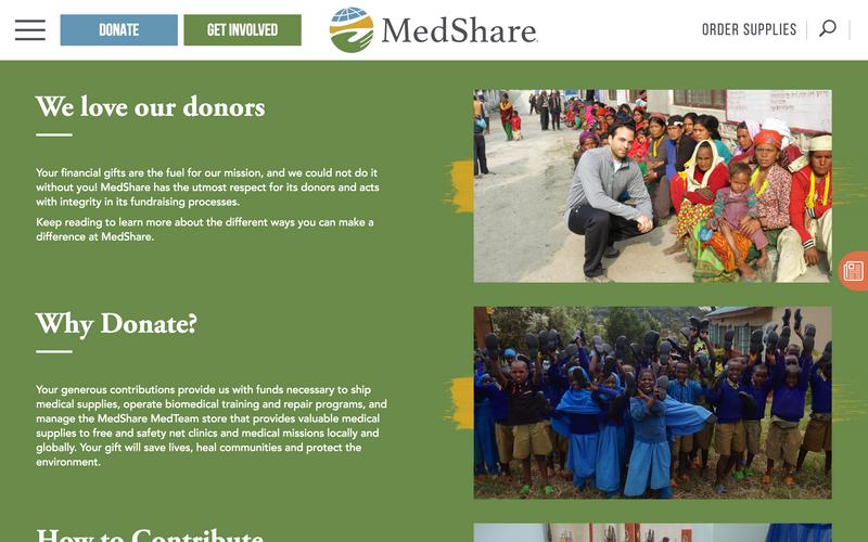 AFTER: The new MedShare.org