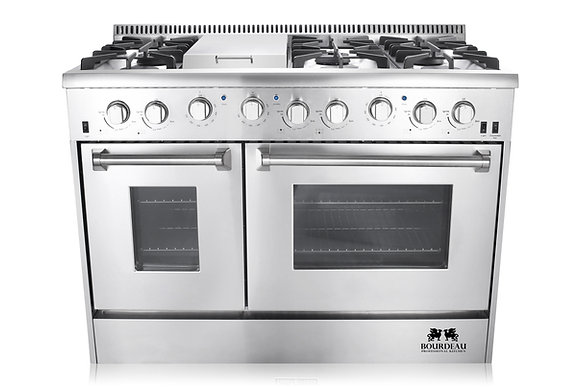 BGRG4808U 48″ 6 BURNER STAINLESS STEEL PROFESSIONAL GAS RANGE