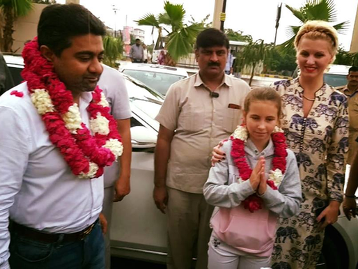 Billionaire Abhishek Verma, his wife Anca Verma get grand welcome in Meerut