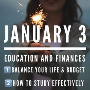 Education & Finances: Balance your life and budget