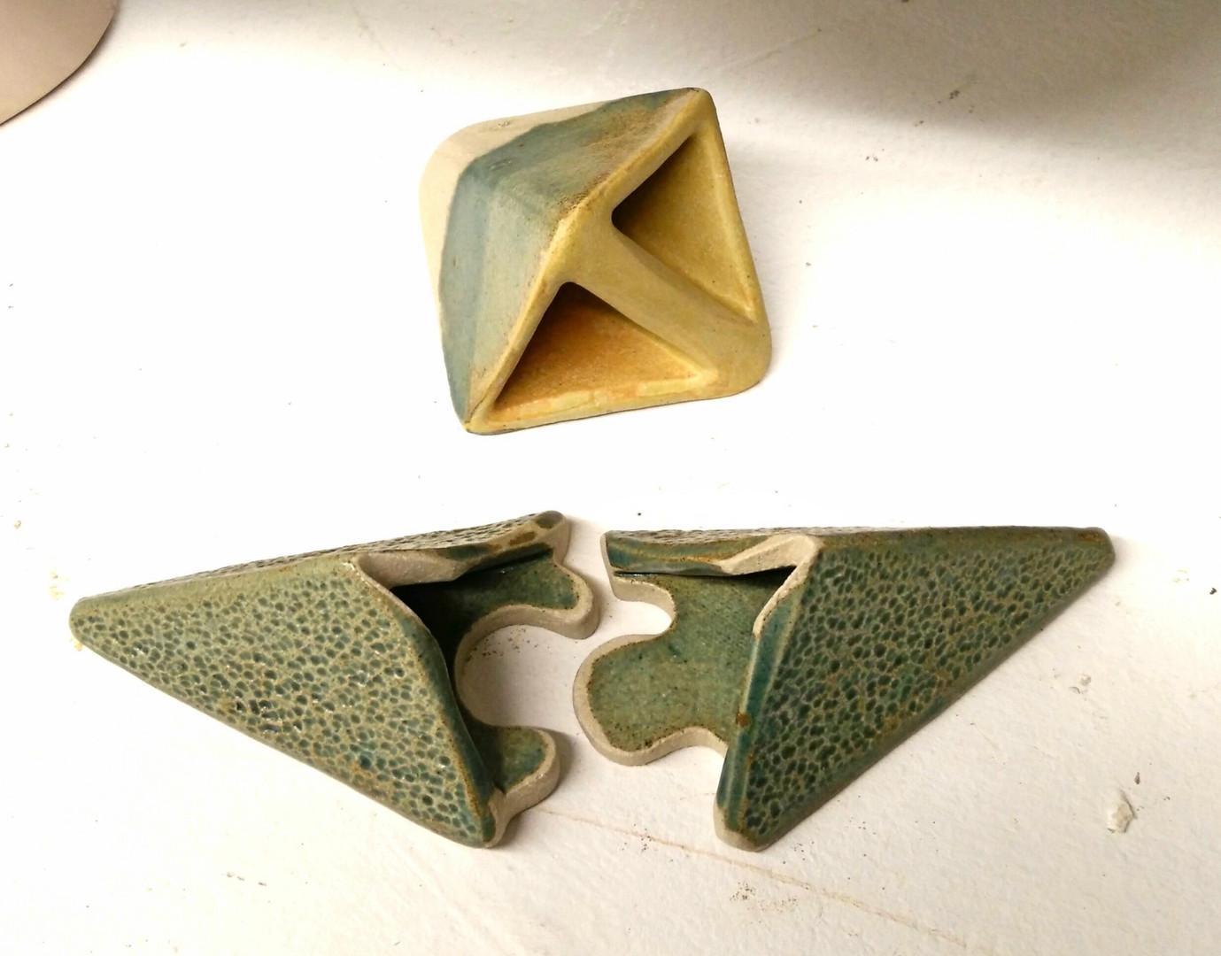 Jigsaw slab Vase
