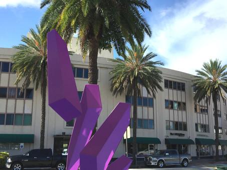 """Coral Gables """"Pause"""" City Art"""