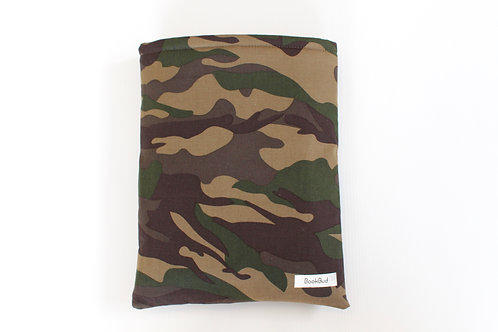 Camo BookBud book sleeve