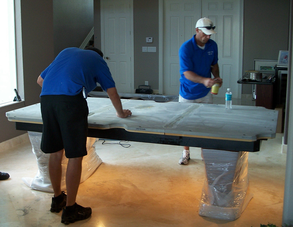 Mitchell Pool Table Slate installation