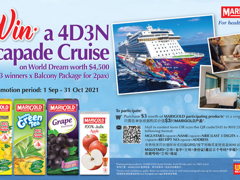 Win a 4D3N Escapade Cruise on World Dream worth $4,500! (3 winners x Balcony Package for 2pax)