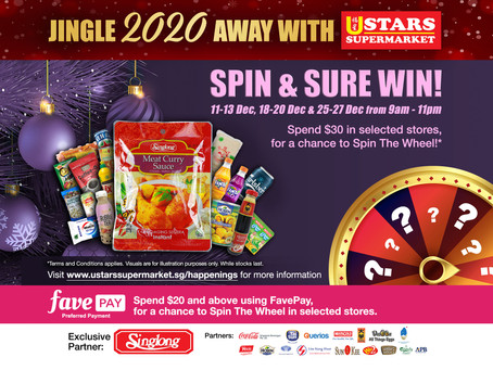 Spin & Sure Win! (11 Dec to 27 Dec on Fri, Sat & Sun only) - Terms & Conditions