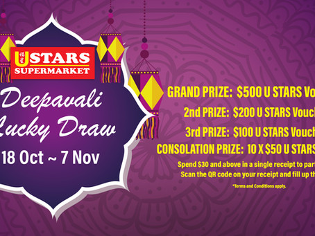 Deepavali Lucky Draw 2021 (18 October 2021 – 7 November 2021)