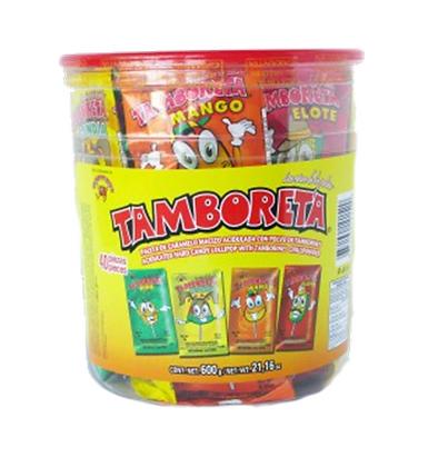 Tamboreta con polvo de tamborin cubeta 40pz