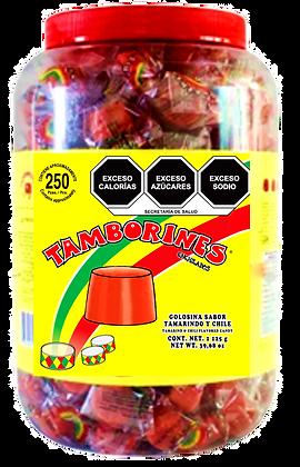 TAMBORIN CUBETA CON 250 PZ