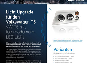 LED - Licht Upgrade im VW Bus T5 - Limited edition