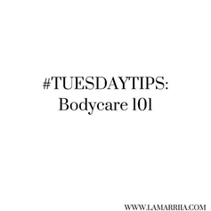 Our first #TuesdayTips of 2020. Enjoy our Beginners Guide to Bodycare! 🚿