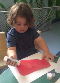 Using a gluestick