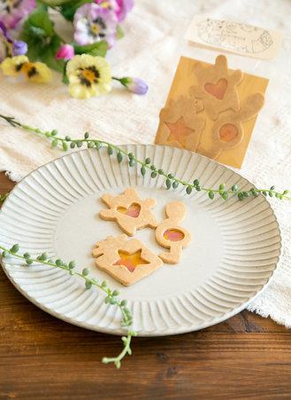 米粉のステンドグラスクッキー