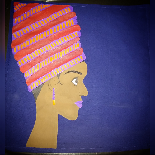 """KYRA"" hand painted 20"" x 20"" throw pillow"