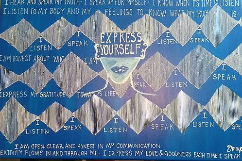 Limited Edition Print Express Yourself (Throat chakra)