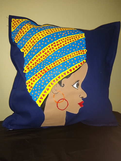 """TIA"" Throw pillow"