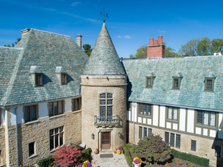 Aerial-Photography-Scripps-Mansion-Front-Metro-Detroit