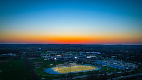 Aerial-Photography-High-School-Football-Field-Michigan