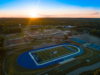 Aerial-Photography-Football-Field-Construction-Michigan