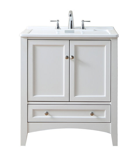 "30"" White Laundry Utility Sink"