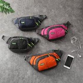Casual Contrast Light Weight Nylon Outdoor Waist Pack
