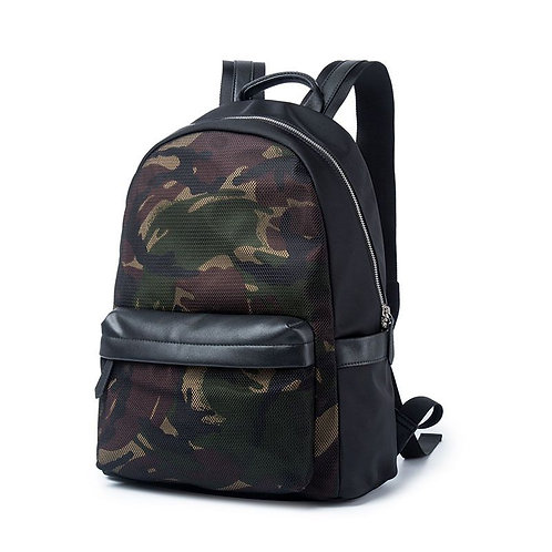 Classic Camouflage Print Design Men And Women Casual Backpack