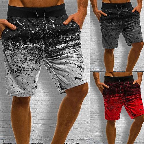 Casual Tie-dye Drawstring Sports Shorts