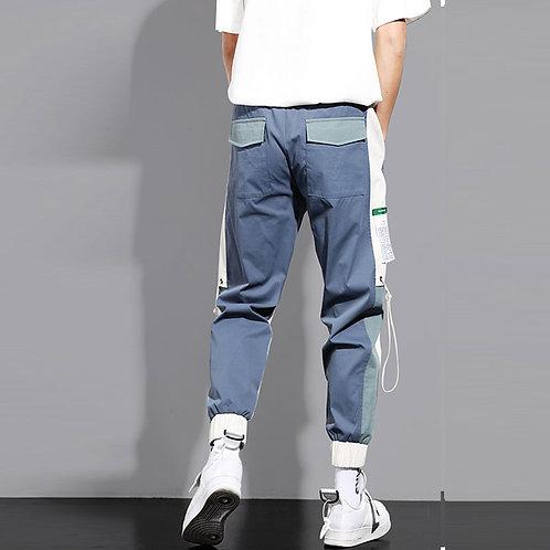 Men Fashion Contrast Color Multi-pocket Pants