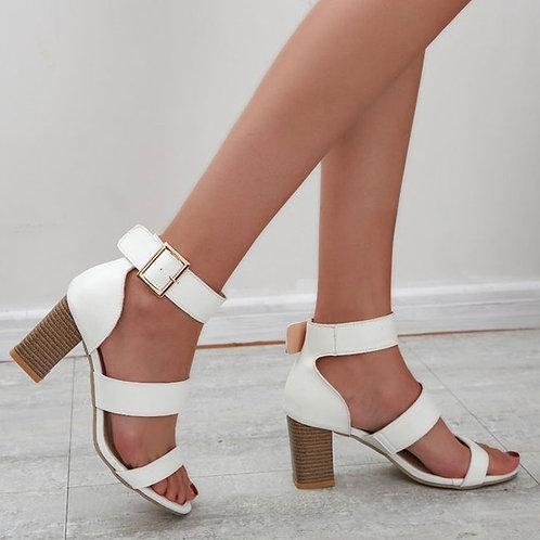 Women Fashion Buckle High-heeled Sandals
