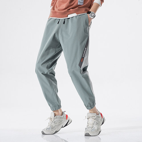 Men Fashion Letter Print Drawstring Loose All-match Sports Pants
