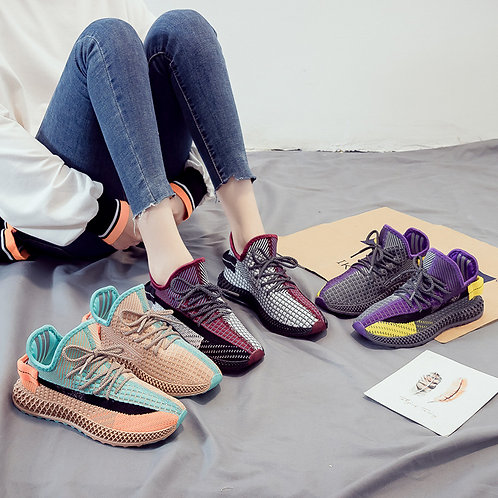Women Fashion Multicolor Leisure Lace-up Sneakers