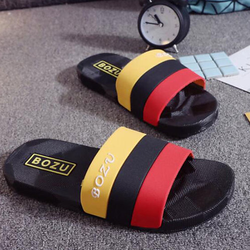 Men Summer Color Blocking House Slippers Shoes
