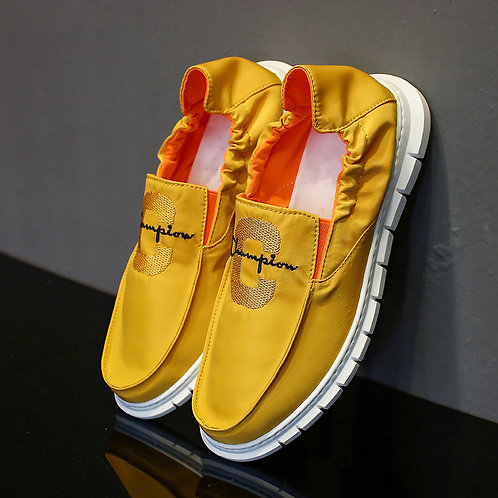 Men Bright Color Leisure Slip-on Loafers Shoes
