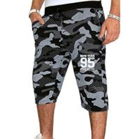 Men Casual Camouflage Print Sports Shorts