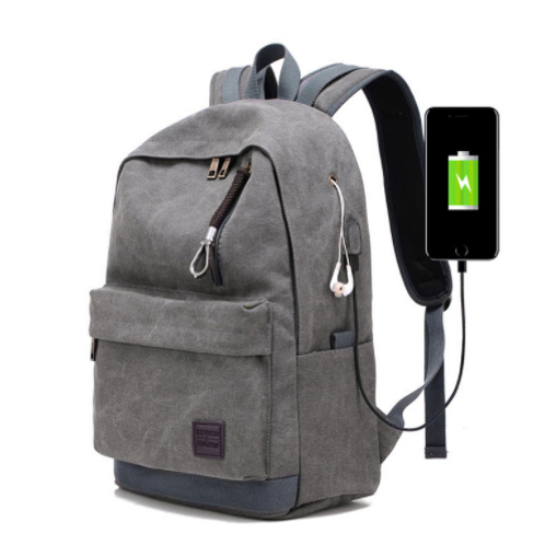 Anti Theft Laptop Backpack Bags With USB Charging Port For Business Hiking