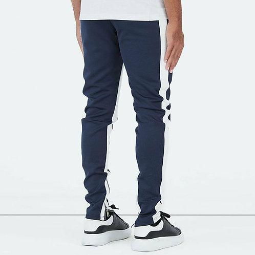 Men Fashion Contrast Color Zipper Patchwork Sports Pants