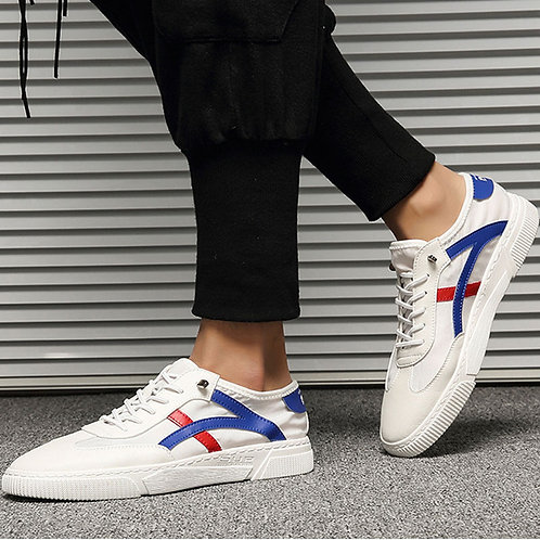 Men Contrast Color Stripe Casual Sneakers
