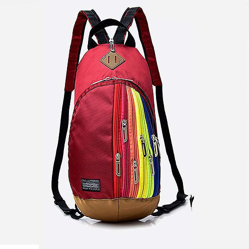 Fashion Trendy Rainbow Color Crossbody Chest Bag Backpack