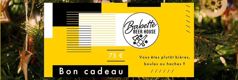 Bon cadeau 75€ Babette Beer House