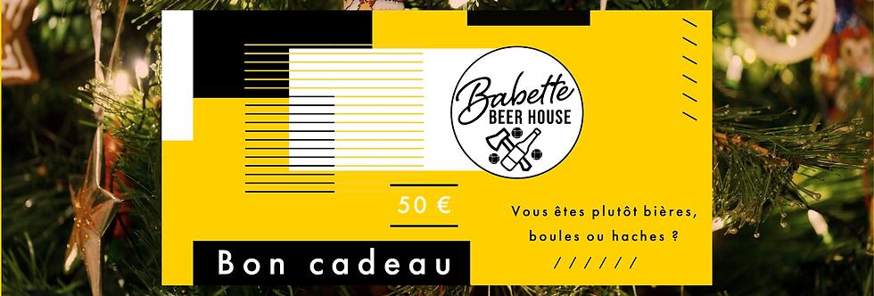 Bon cadeau 50€ Babette Beer House