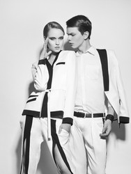 Man and Woman Black and White