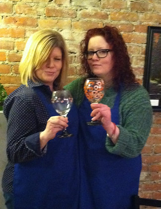 National Girlfriends' Day Wine Glass Painting (8/1)