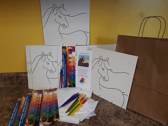 Canvas Painting Party To Go Kit