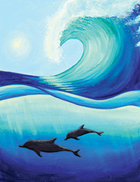 Dolphin Wave Canvas at Tagua Nut Cafe (8/9)