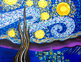 Paint n Party @ The Studio - Starry Night (9/12)
