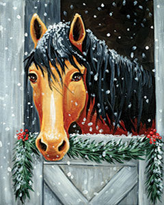 Holly the Horse Canvas at Tagua Nut Cafe (1/31)