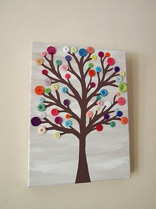 Parent Tot Story Art - Button Tree (3/14)
